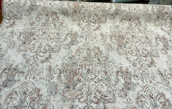 Swavelle Courtship Soft Chenille Rose Upholstery Fabric By The Yard