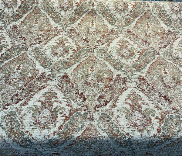 Swavelle Chenille Latham Brick Damask Upholstery Fabric By The Yard