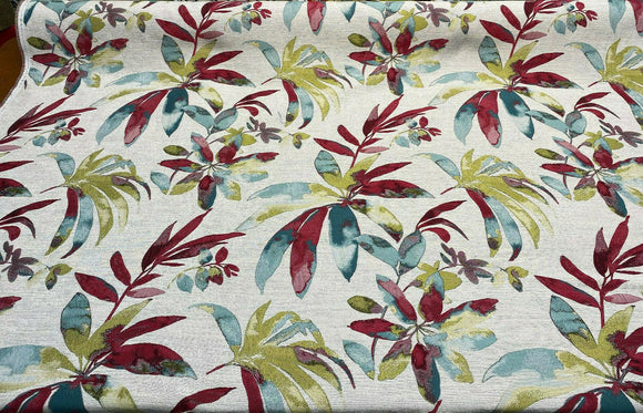 Bonavista Punch Pink Tropical Leaf Swavelle Mill Creek Fabric By the yard