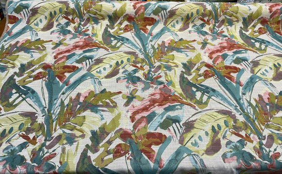 Swavelle Tropical Heat Floral Multi Color Jacquard Upholstery Fabric By the yard