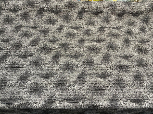 Swavelle Rotunda Deep Space Graphite Black Gray Chenille Fabric by the yard