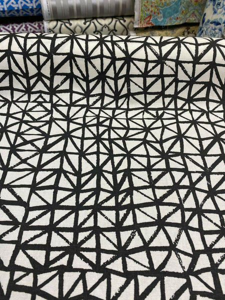 Waverly Genevieve Gorder Lattice Lace Inked Black Cotton Fabric By the Yard