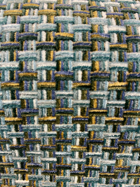 Waverly Upholstery Touro Peacock Woven Fabric By The Yard