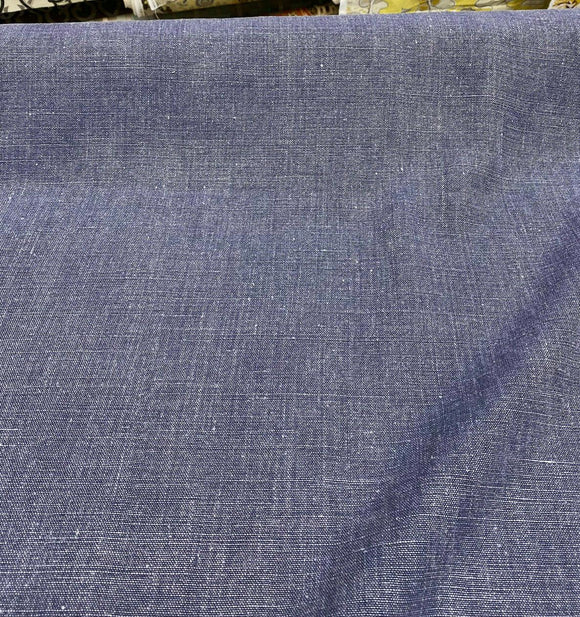 100% Belgian Linen Highland Blue Fabric By the Yard