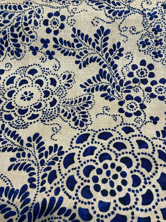 P Kaufmann Katazome Garden Baltic Blue Fabric By the Yard