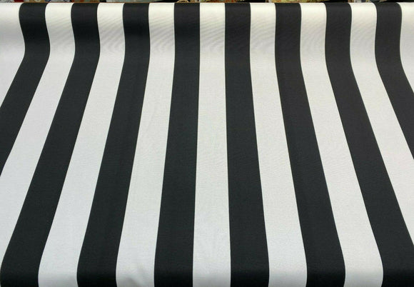 Black White Outdoor Luxury Stripe Solarium Richloom Fabric By The Yard