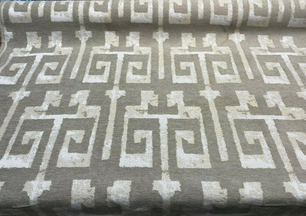 Tribal Text Styles Natural TFA Chenille Upholstery Fabric by the yard