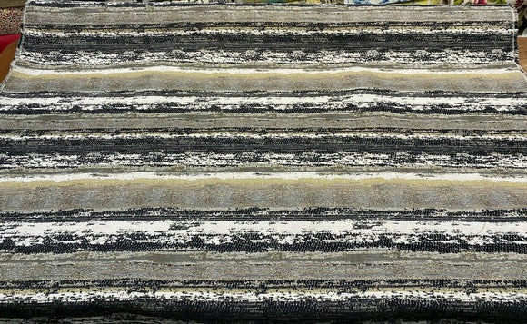 Swavelle Stretch of Dawn Onyx Black Tapastry Chenille Fabric By The Yard