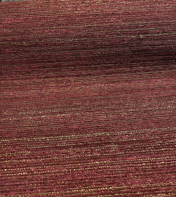 Swavelle Wine Gold Elixer Port Chenille Upholstery Fabric  by the yard