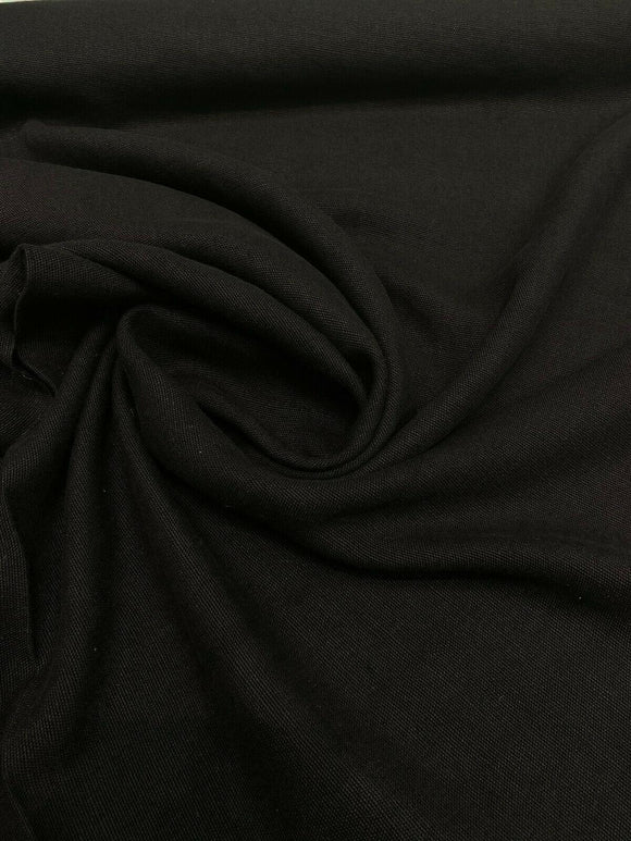 100% Belgian Linen Black Ventanas Bimitex Fabric By the Yard