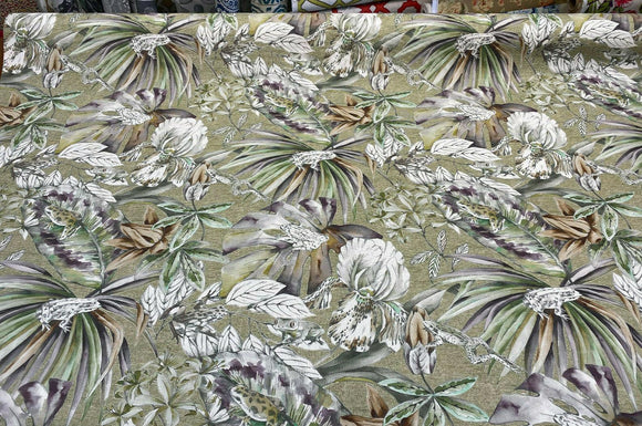 Ainara Frogs Leaves Green Moss Drapery Upholstery Vilber Fabric By The Yard