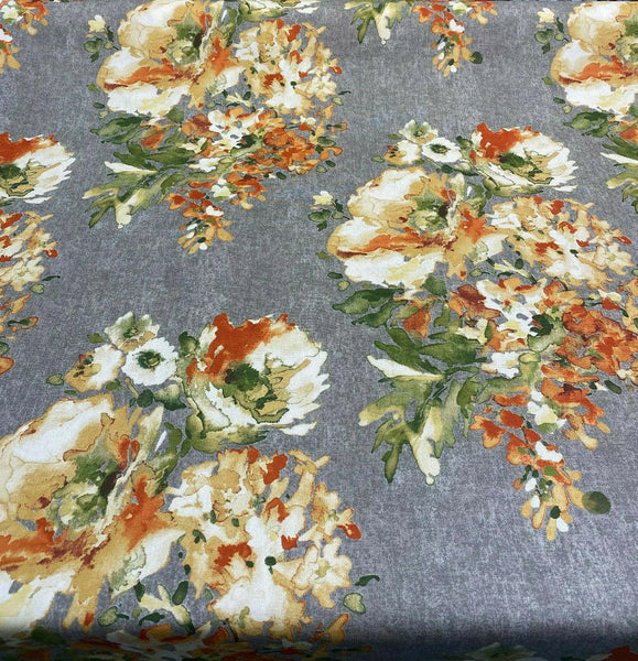 Swavelle Rite Of Spring Flowers Apricoat Fabric By the Yard