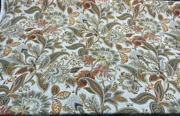 Swavelle Valdosta Nectar Beige Floral Linen Rayon Fabric By The Yard