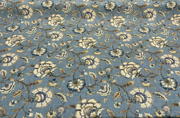 Swavelle Millcreek Blue Ivory Tower Cliffside Porcelain Fabric By The Yard