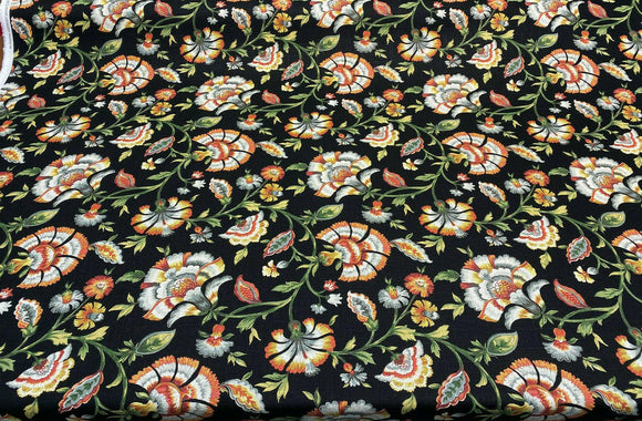 Swavelle Mill Creek Black Noir Ivory Tower Cliffside Fabric By The Yard