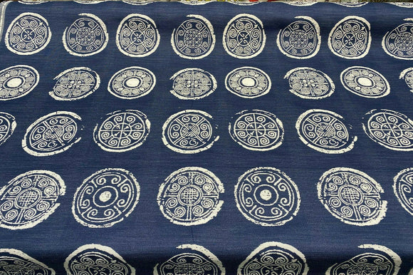 Jorah Meridian Blue Jaquard Upholstery Fabric by the yard