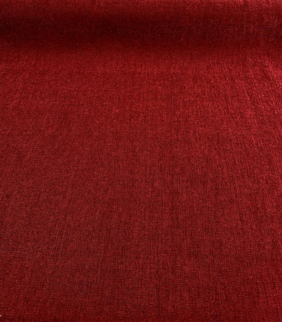 Charisma Crypton High Performance Chenille Maroon Red Upholstery Fabric By The Yard