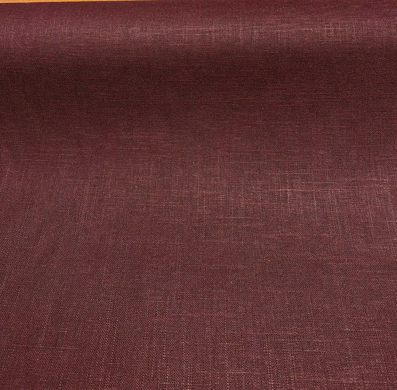 Jefferson Linen Bordeaux Wine Drapery Upholstery Covington Fabric By the Yard