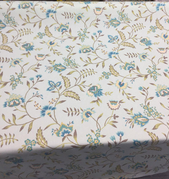 Waverly Carolina Crewel Mist blue Fabric By the yard Sale