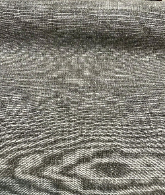 100% Linen Highland Dark Gray Belgian Fabric By the Yard