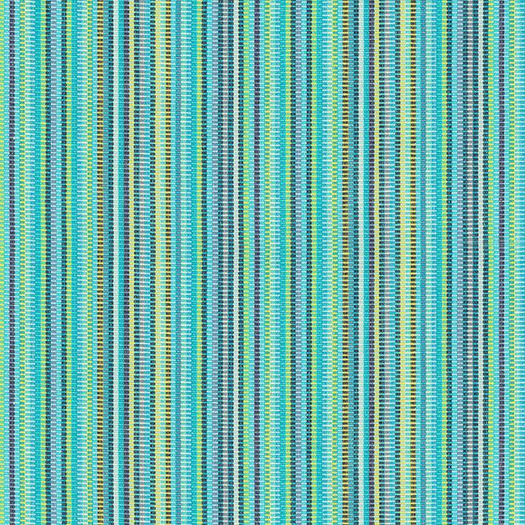 Waverly Upholstery Murano & Cove Teal Blue Stripe Fabric By the Yard