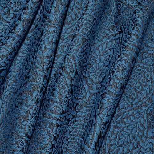 Waverly Boutique Find Indigo Blue Jacquard Fabric By The Yard