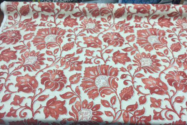 Waverly Imaginary Coral Fabric 100% cotton Upholstery Drapery BTY