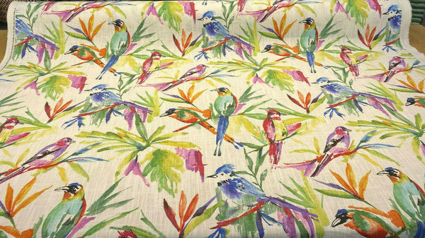 Songbird Flora Tropical Bird | Affordable Home Fabrics