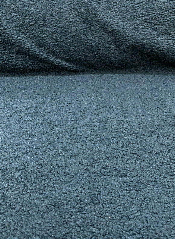 Italian Faux Sheepskin Blue Shadows Upholstery Fabric By The Yard