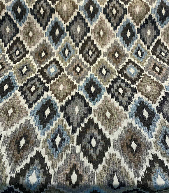 Upholstery Chenille Conquest Brown Blue P Kaufmann Fabric By The Yard