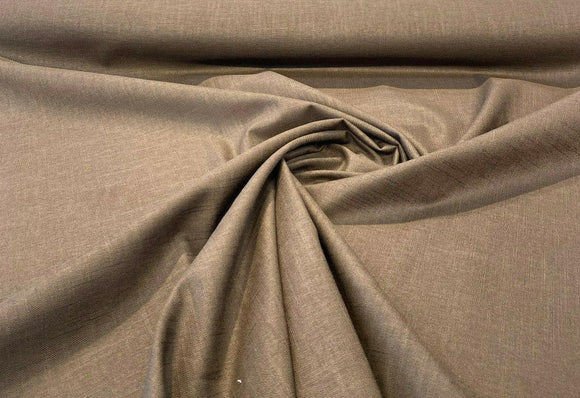 Jefferson Linen Java Brown Fabric