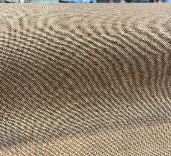 100% Belgian Linen Libeco Chalet Sepia Brown Fabric