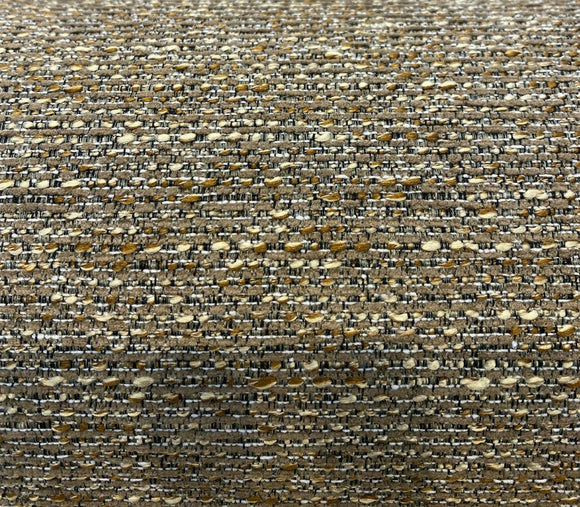 Treasured Burnt Caramel Chenille Tweed Upholstery Fabric