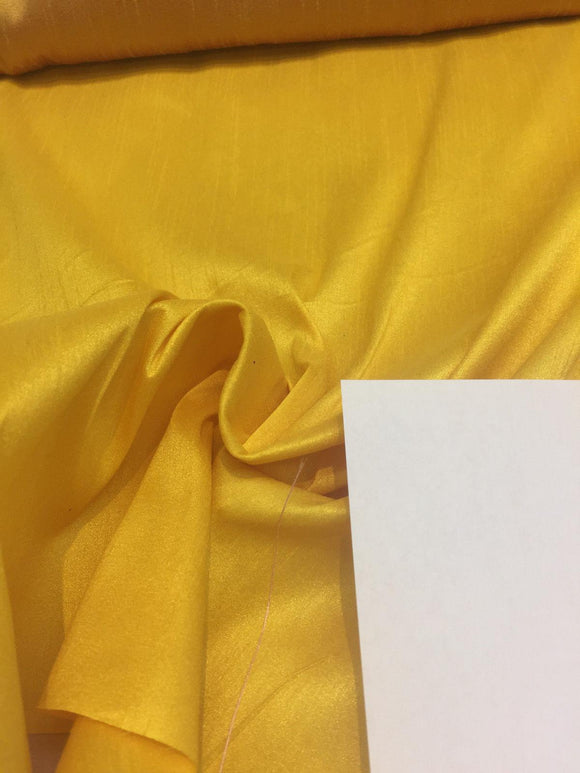 MariGold Shantung Faux Silk Polyester Drapery Fabric  by the yard 40 colors