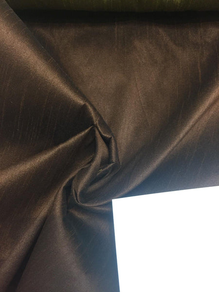 Brown Shantung Faux Silk Polyester Drapery Fabric by the yard 40 colors