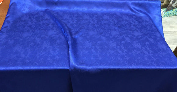 Royal Blue Exquisiteness 120 inches double width Table covers fabric By the yard