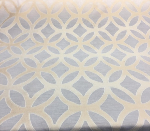 Gold fretwork sheer fabric