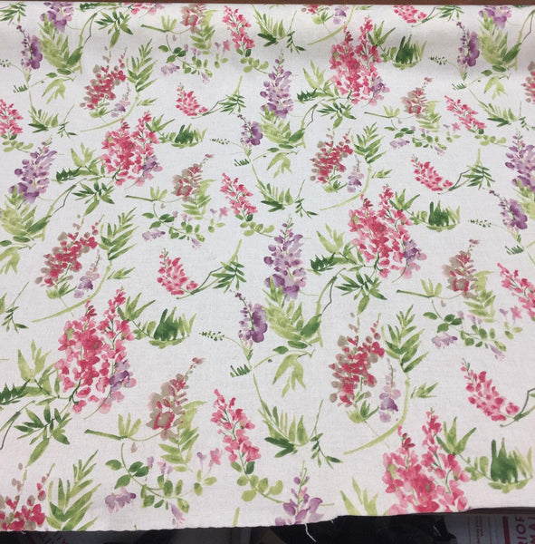 Floral Elegance Off white Mill Creek Solita Printed Drapery Fabric