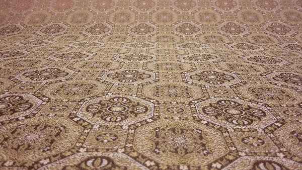 Westport Gold Polyester Jacquard Fabric 57'' by the yard