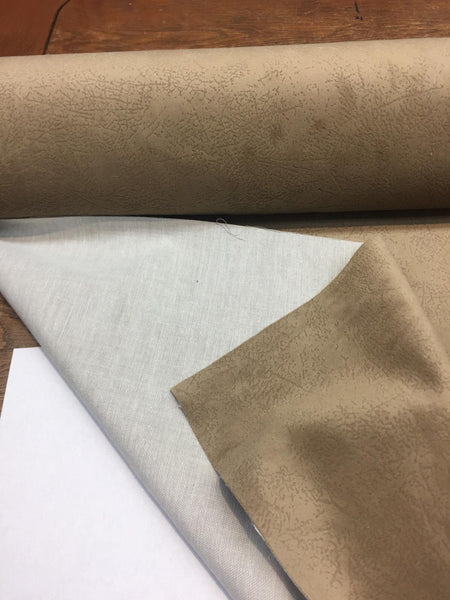 Taupe Textured Super Velvet With Backing Fabric by the yard