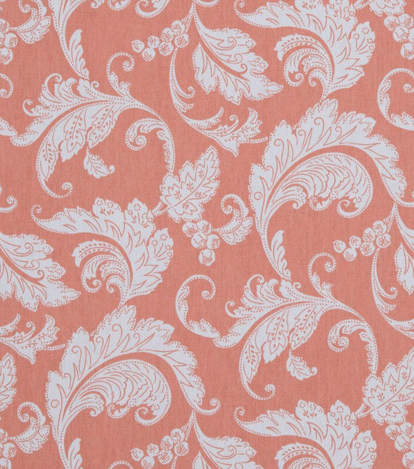 45'' Mill Creek Prestwick Panorama Papaya monochromatic fabric by the yard