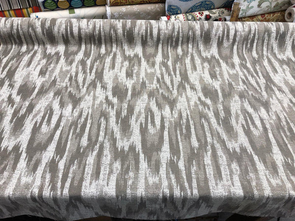 MODERN ALYSSA LINEN IKAT CHENILLE fabric by the yard Multipurpose