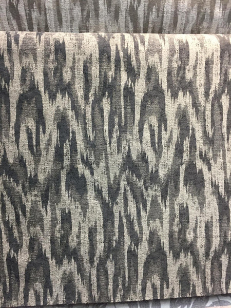 MODERN ALYSSA PEWTER IKAT CHENILLE fabric by the yard Multipurpose