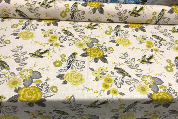 Richloom Bountiful Dandelion Linen Blend Drapery Upholstery Fabric by the yard
