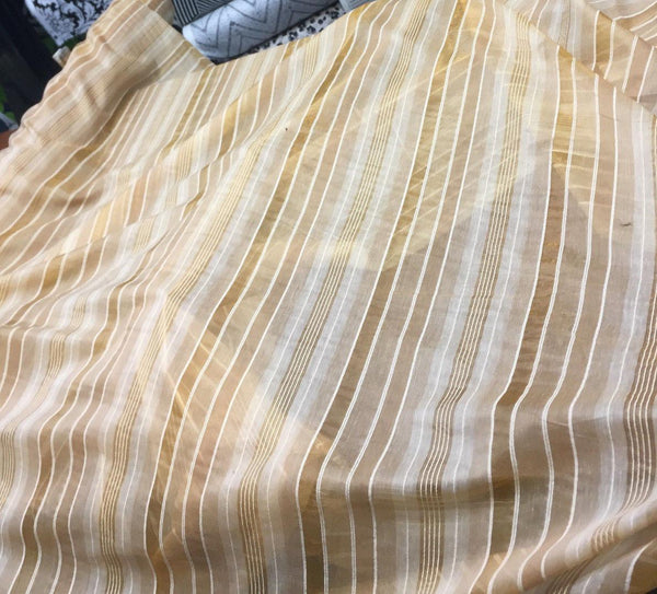 50  Yards Gold  stripes 120'' inch double width Fabric Made in turkey