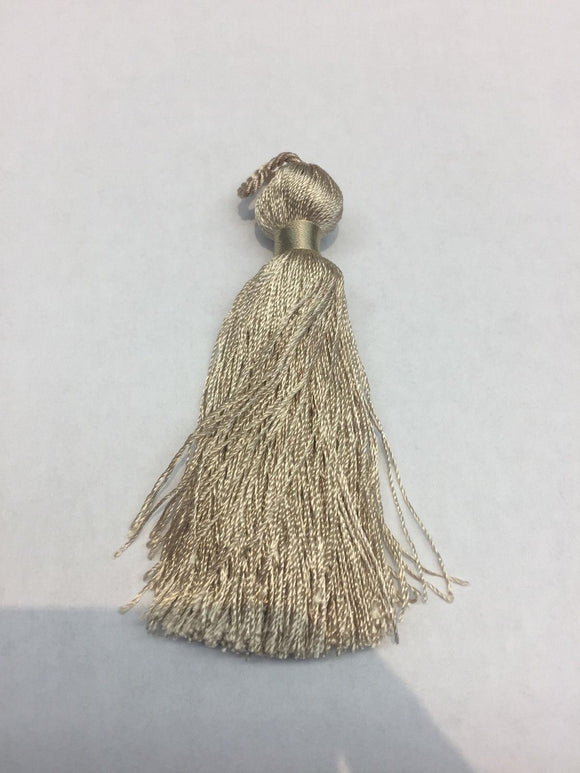 25 pieces simple Taupe Key tassel perfect for runners pillows keychains