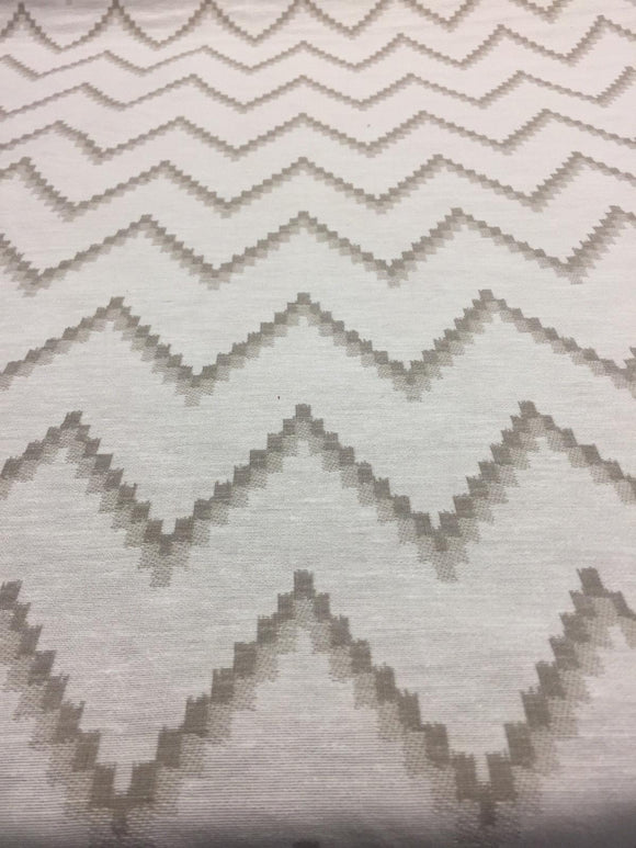 Pyramid Beige Khaki Cotton Polyester Drapery Upholstery fabric by the yard