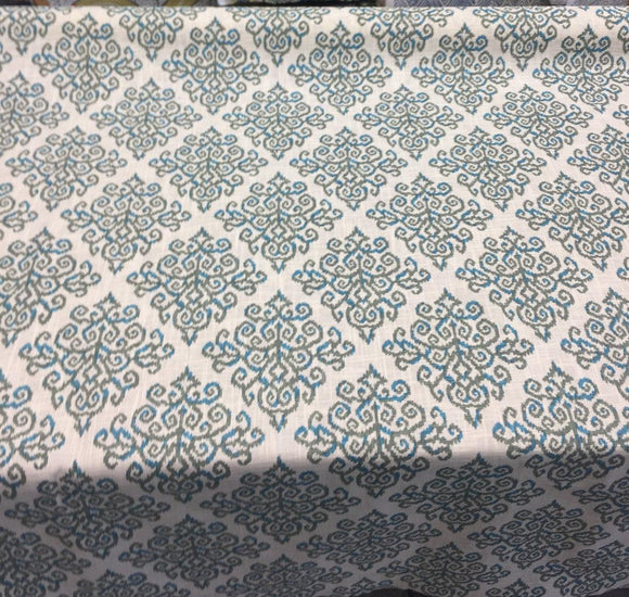 Richloom Abstact Sequence  Design Green and blue Fabric by the yard