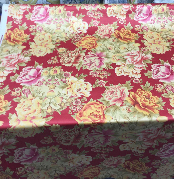 Mirabelle Scarlet  Drapery Cotton by Fabricut  Fabric by the yard