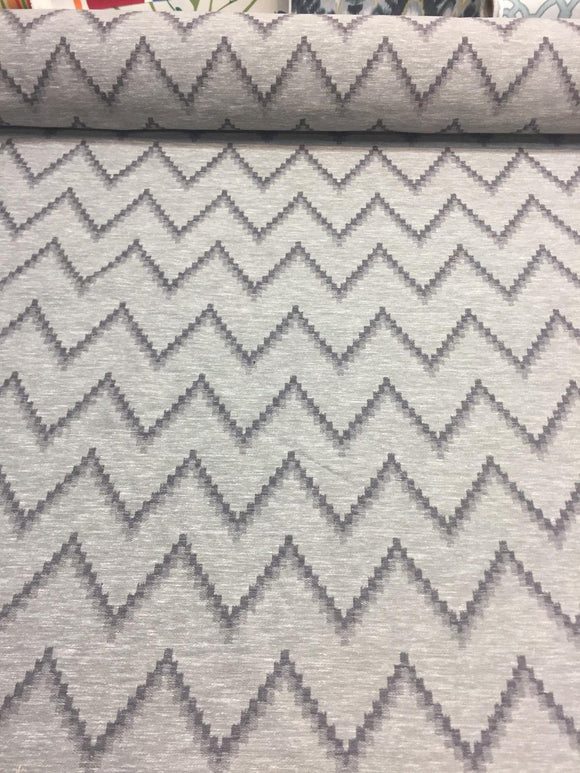 Pyramid Charcoal Cotton Polyester Drapery Upholstery fabric by the yard
